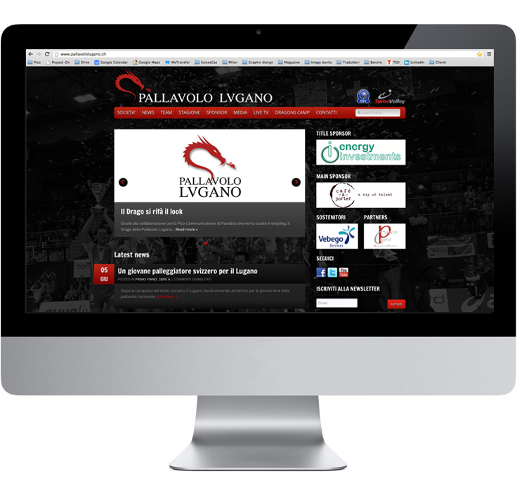 Pico Communications - Pallavolo Lugano (CH) - Web site