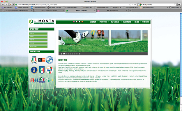 Pico Communications - Limonta Sport (IT) - Web site