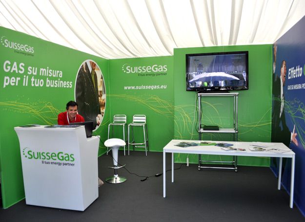 Pico Communications - SuisseGas (CH) - Stand Open Village - BMW Italian Open